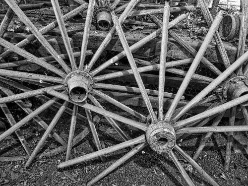 wagon wheels spokes vintage