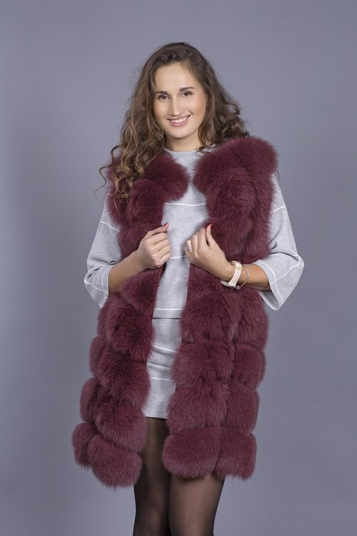 waistcoat made of fur  fur  luxury