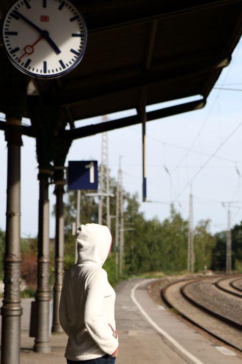 waiting travel railway station