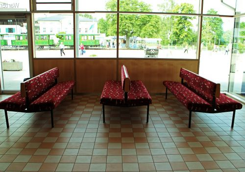 waiting room waiting benches bank