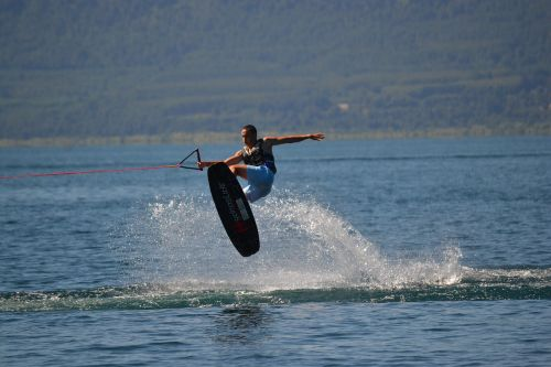 wakeboard jump water
