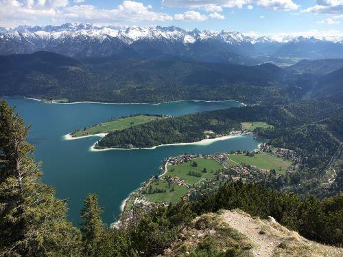 walchensee herzogstand lake
