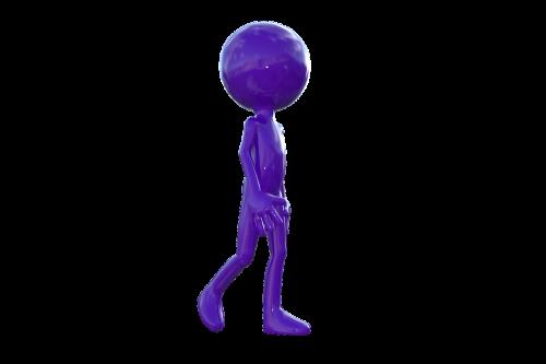 vaikščioti,vaikščioti,vaikščioti,pasivaikščiojimas,violetinis vyras,3d