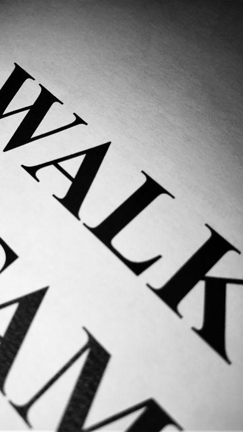 walk text typography