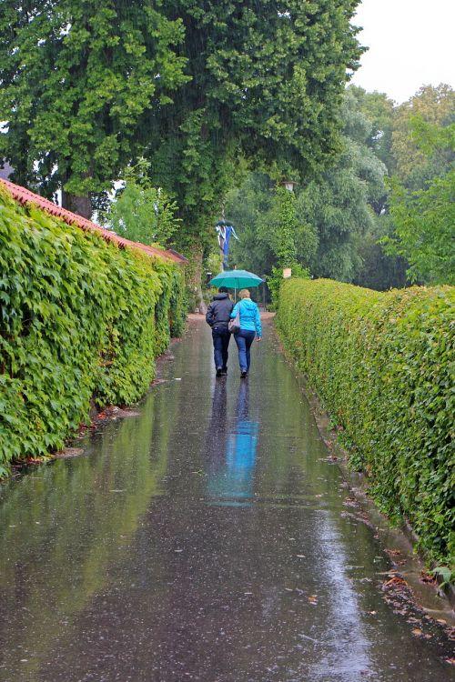 walk rain rained out