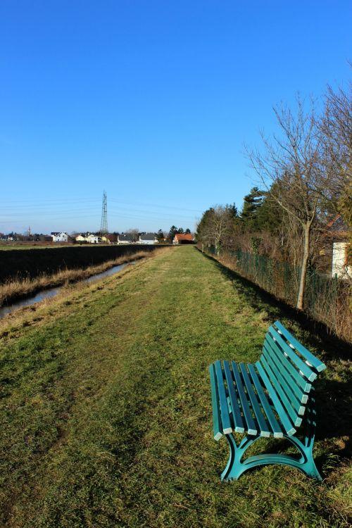 walk rest bench