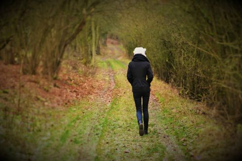 walk woman nature