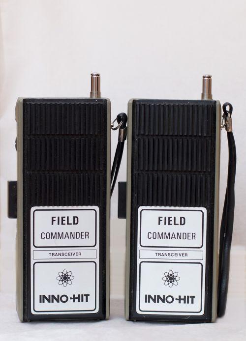 walkie talkie vintage communication