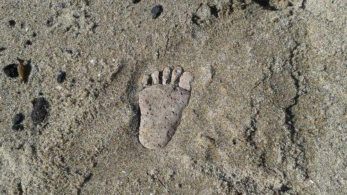 walking footprint barefoot