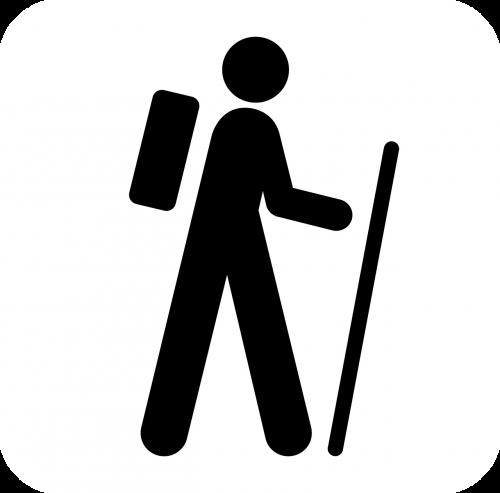 walking hiking man