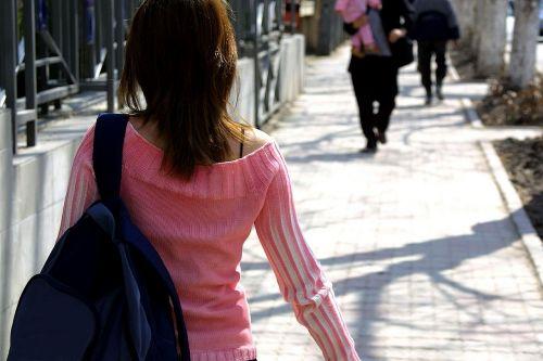 walking people woman