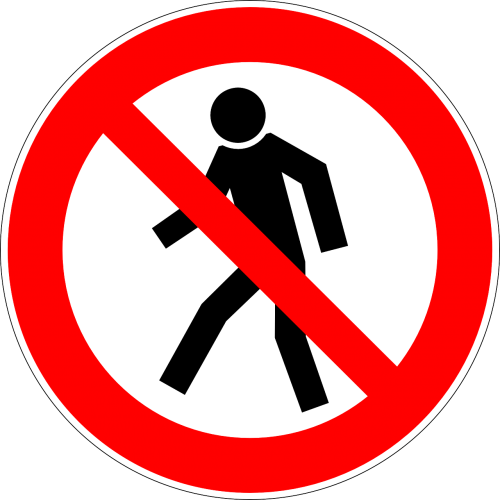 walking prohibited forbidden