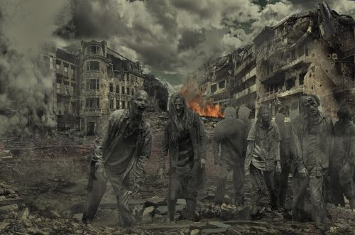 walking dead zombies destroyed city