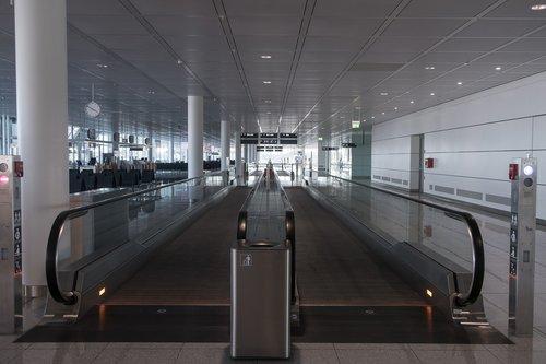 walkway  airport  handrails