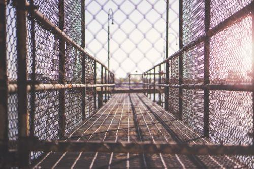 walkway planks fence