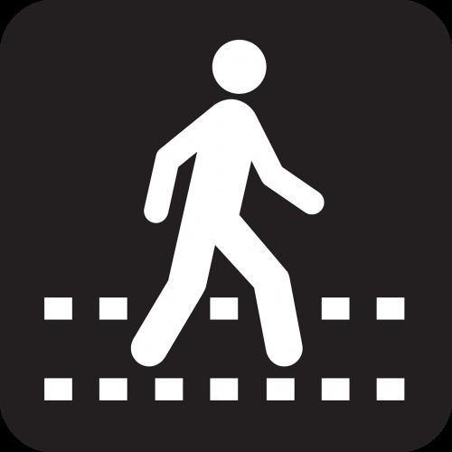 takas,šaligatvis,pėsčiųjų,Walker,rambleris,ambleras,promenaderis,pėsčiųjų takas,juoda,simbolis,ženklas,piktograma,nemokama vektorinė grafika