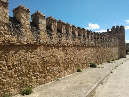 wall castle peñaranda de duero