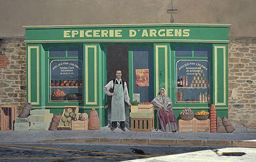wall painting trompe l ' œil
