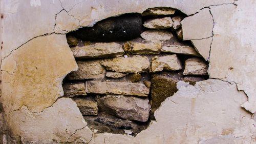 wall damaged crack