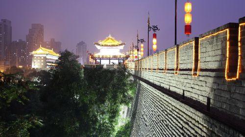 wall china night