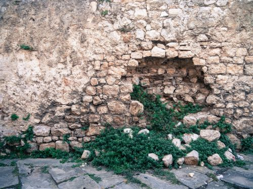 wall stone hole