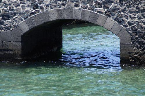 siena,arka,tiltas,vanduo,атлантический,mėlynas,jūra,aišku,turkis,akvarelė,spalva,akmuo,akmens arka,akmeninė siena,apvali arka,Persiųsti,produkcija,toli,tikslas,arka