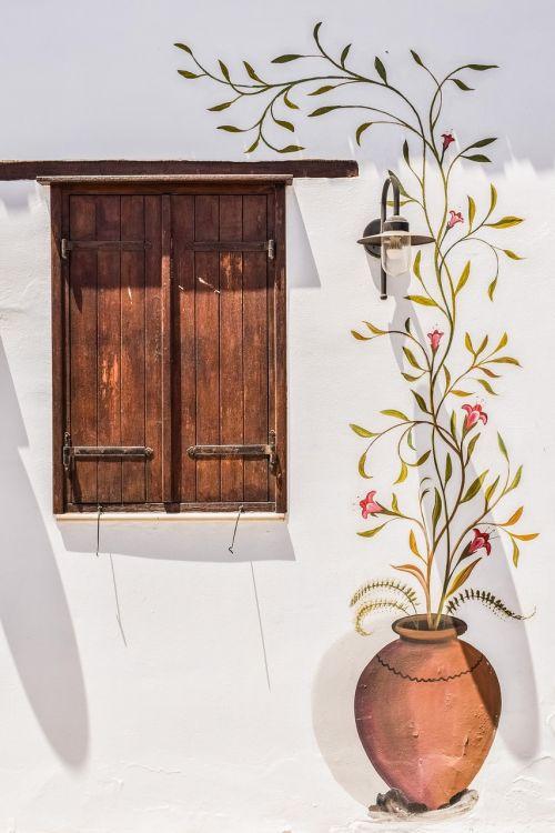 wall window painting