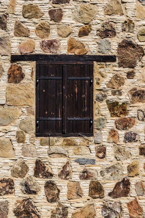 wall window stone built