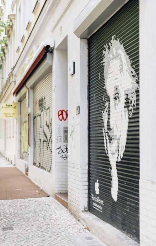 wall paint albert einstein