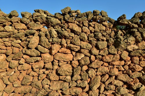 wall  stone wall  old