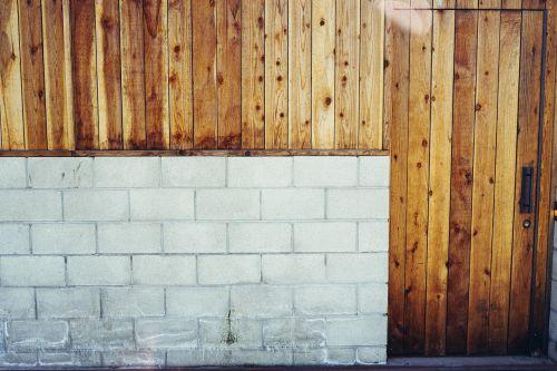 wall wooden door