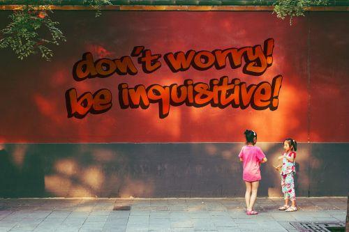 wall graffiti saying