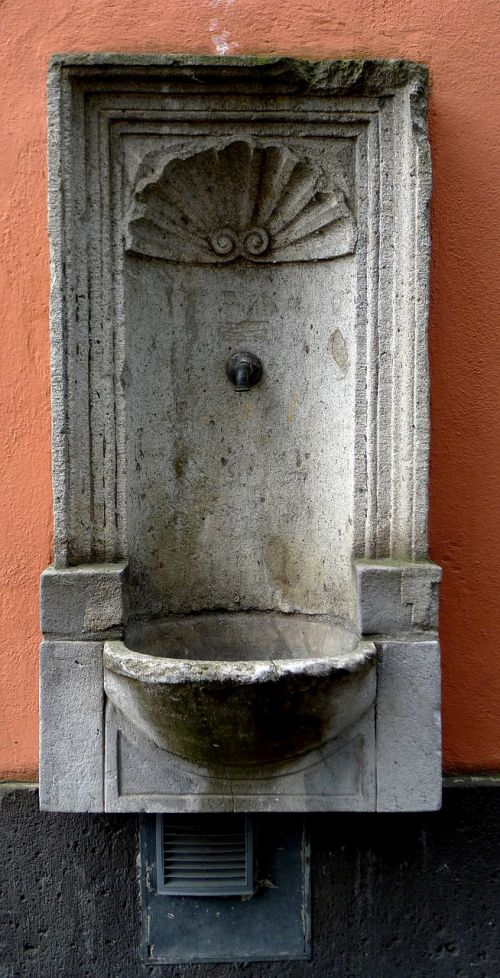 wall fountain stone fountain cologne