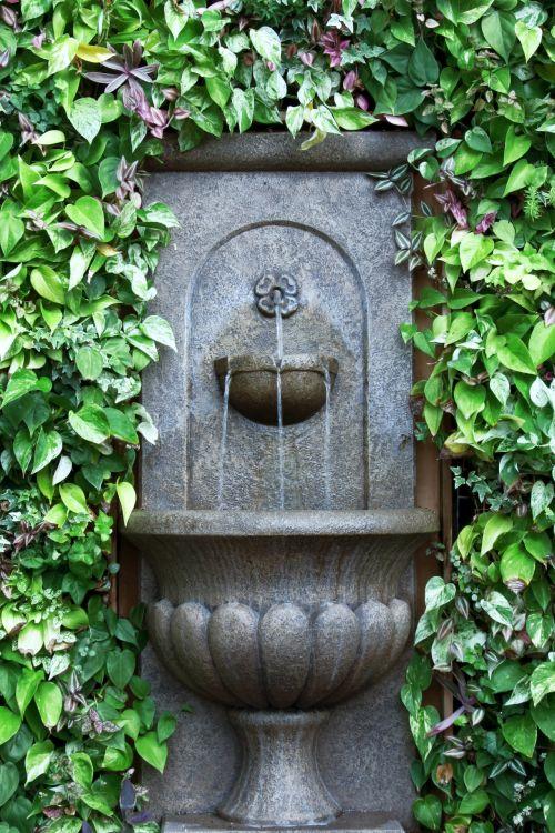 fontanas, sienų fontanas, žaluma, siena, vanduo, vanduo & nbsp, teka, žalias, Saunus, taikus, ramus, gaivus, sienos fontanas