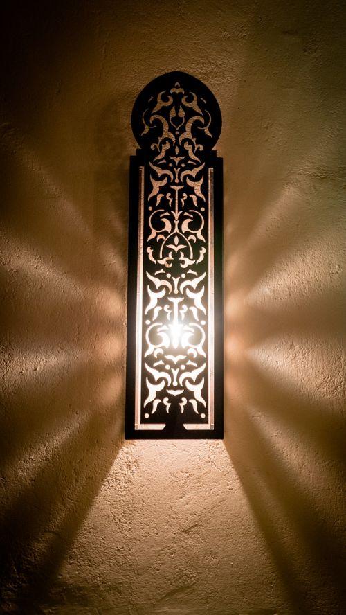 wall light light beam oriental