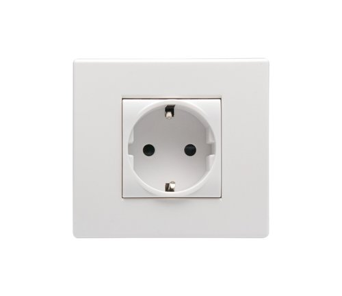 wall plug  european plug  jack white