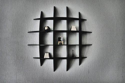 wall shelf abstract confused