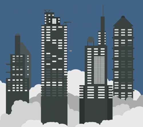 wallpaper minimal skyscrapers