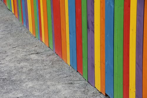 wallpaper colorful fence