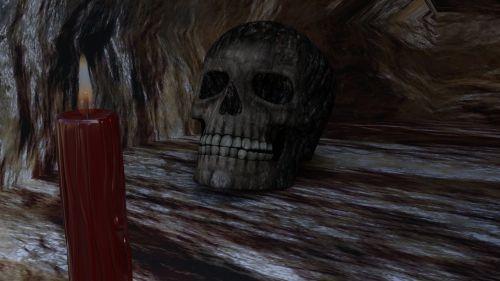 urvas, akmuo, žvakė, kaukolė, urvas & nbsp, portalas, fantazija, Rokas, tapetai