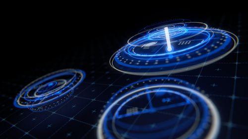 wallpaper hologram display