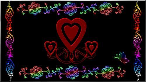 wallpaper heart abstract