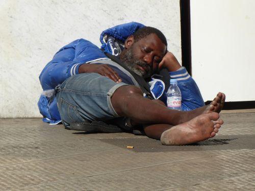 homeless wanderer immigrant