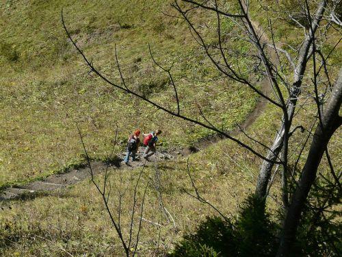 wanderer hike descent