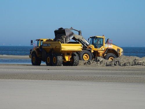 wangerooge  beach  dike construction