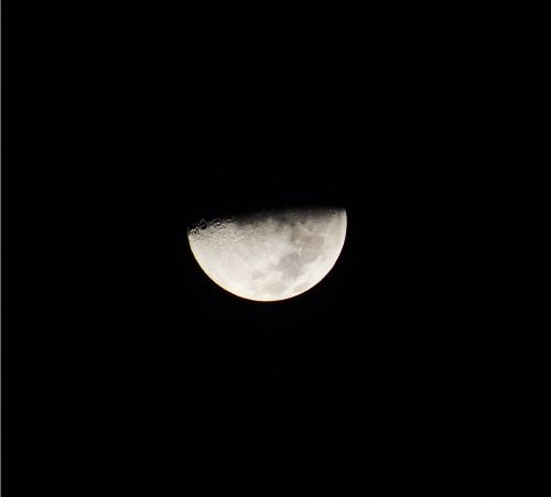 waning moon night