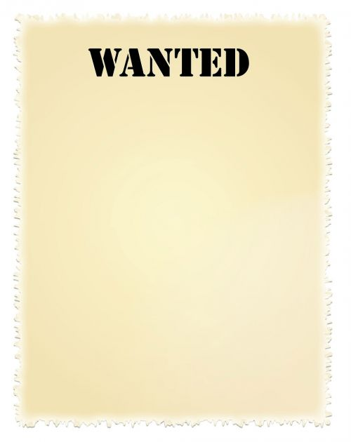wanted poster wanted poster