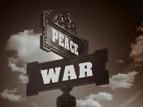 war harmony street sign