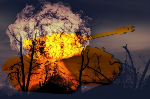war tank explosion