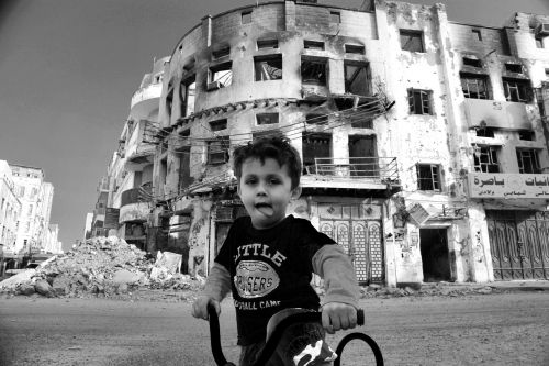 war children destruction